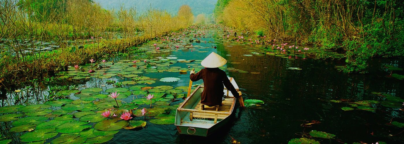 Rowing boat in Vietnam