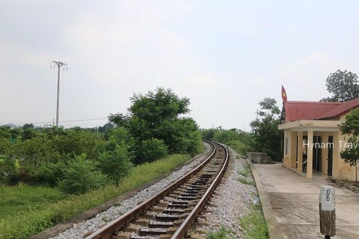 Train track in Hanoi