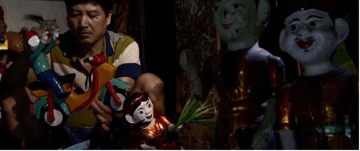Making water puppet in Hanoi