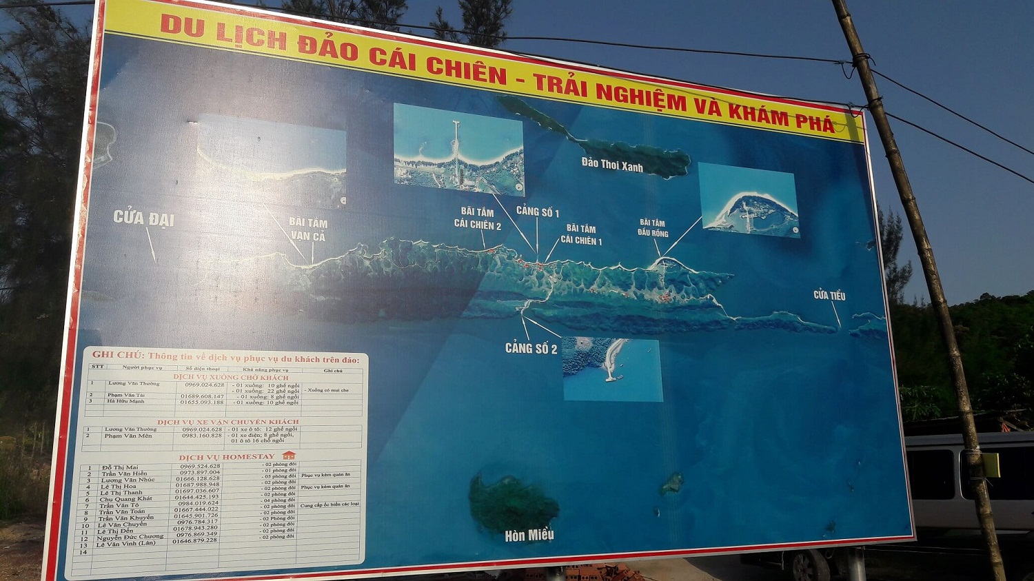 Cai Chien island Travel Map