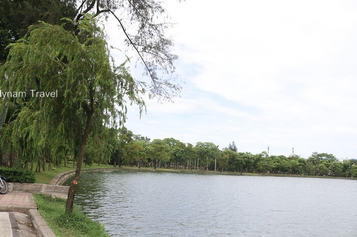 The central lake in Nam Dinh city