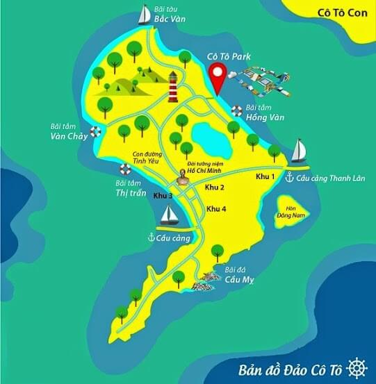 Coto island travel guide map