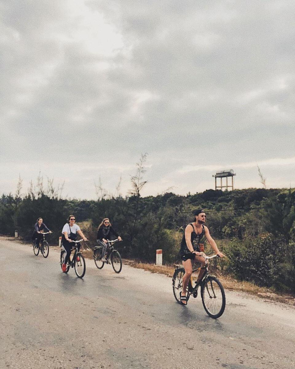 Quan Lan island biking