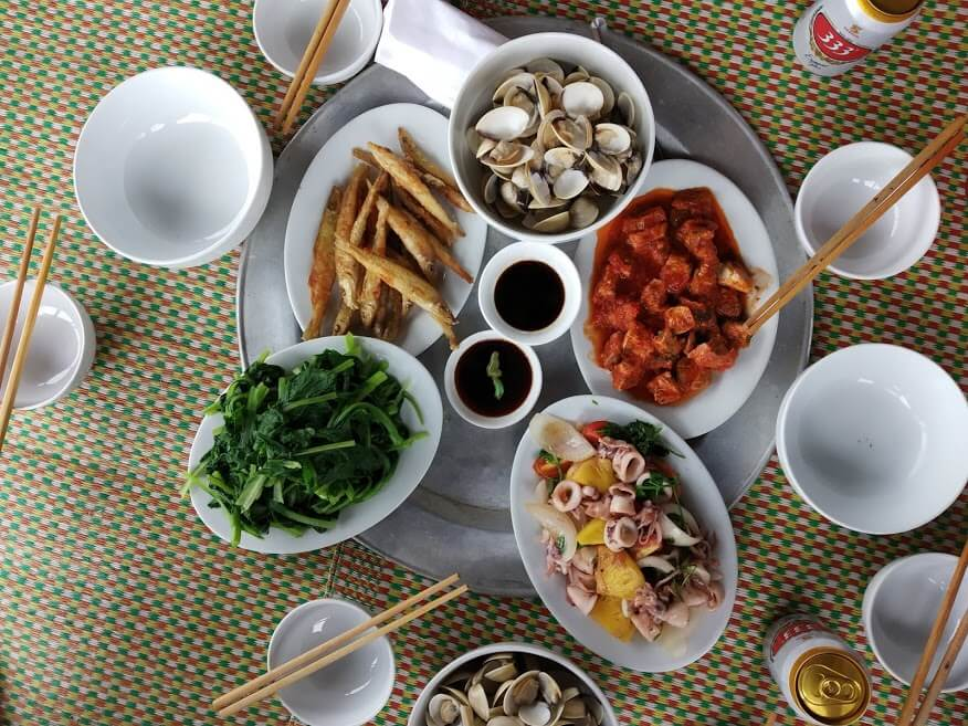 Seafood lunch in Nam Dinh