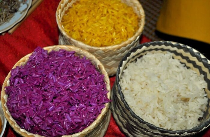 5 colors steamed rice