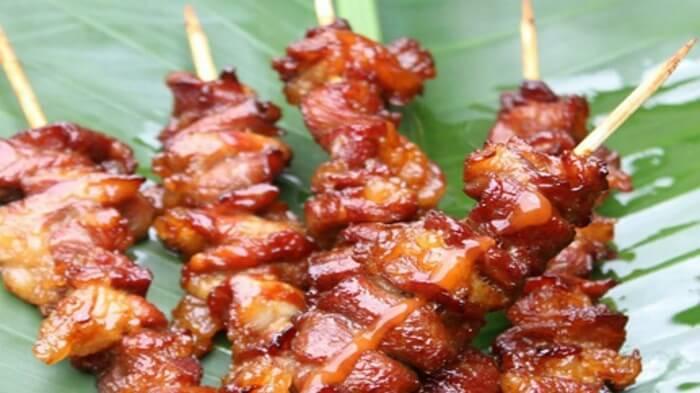 BBQ pork skewer