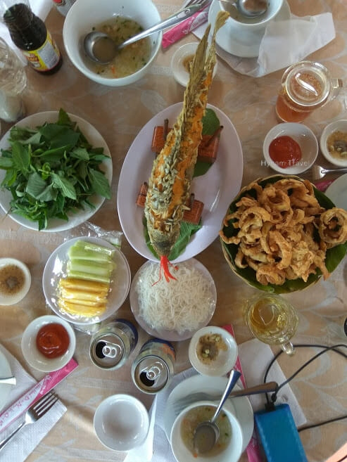 Lunch in Mekong delta